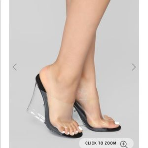 Glass heeled wedges